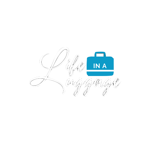 Life in a Luggage Logo White